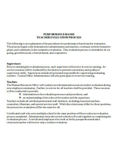 teacher-based-performance-evaluation-template