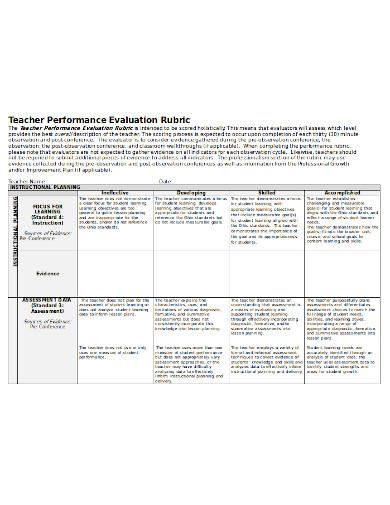 teacher-performance-evaluation-template