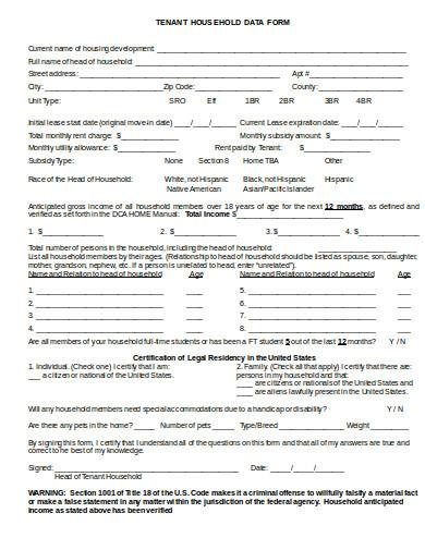 tenant-household-data-form