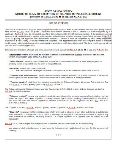 tobacco retail notice template