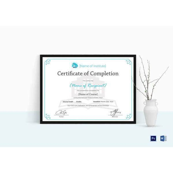 training certificate of completion mockup 600x420