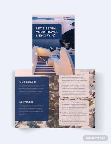 travel introduction company bi fold brochure