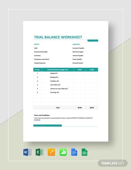 trial balance worksheet template2