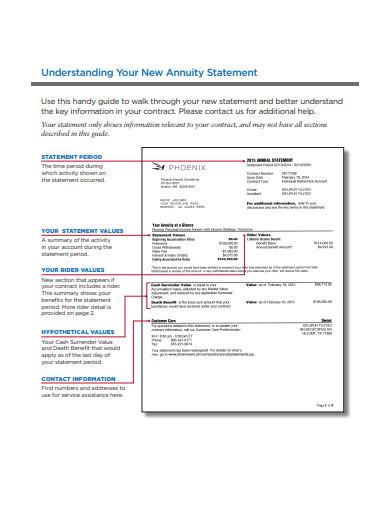 understanding new annuity statement