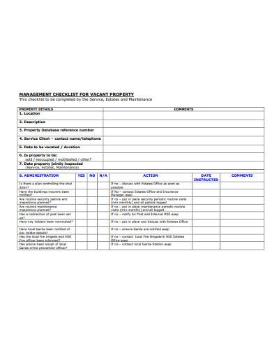 10  property management checklist templates in pdf