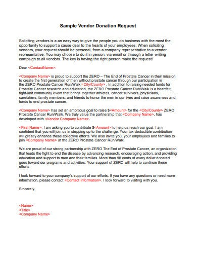 Request Letter For Vendor Payment