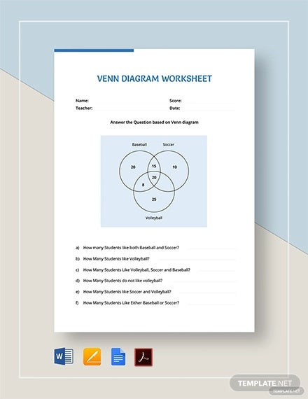 venn diagram worksheet template