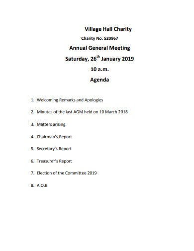 10  charity meeting agenda templates in pdf