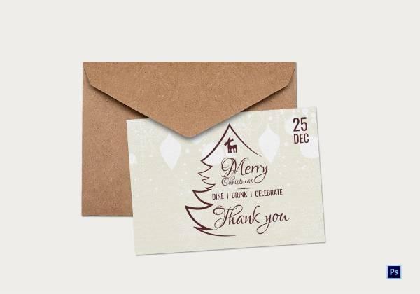 vintage christmas thank you card 1