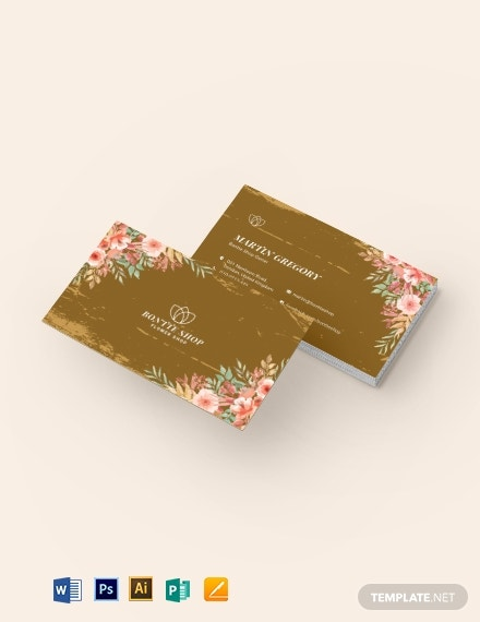 vintage floral business card1