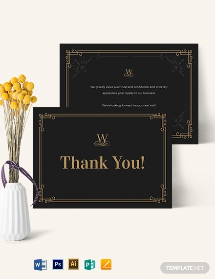 vintage thank you card template 1