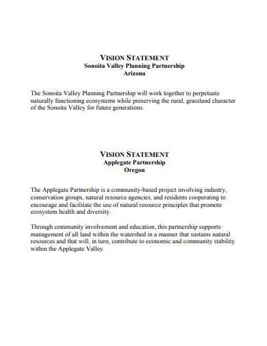 vision statement example