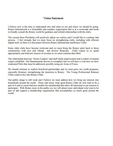 vision statement template in pdf