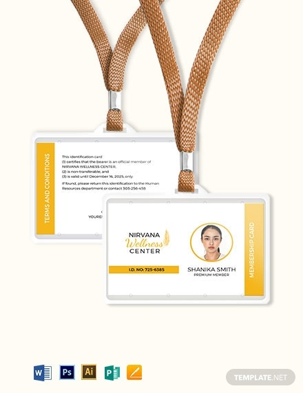 wellness membership id card