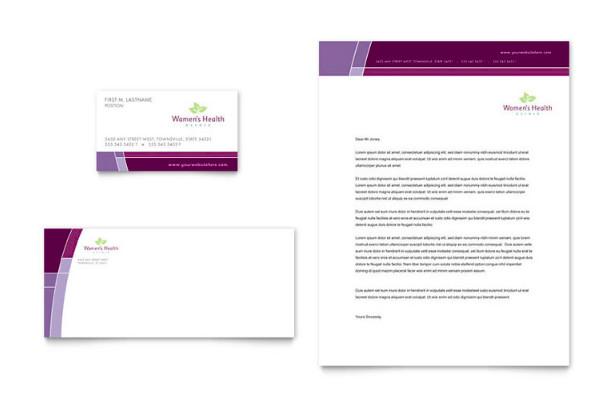 womens health clinic business card