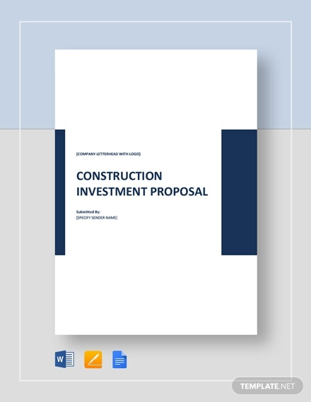 construction investment proposal