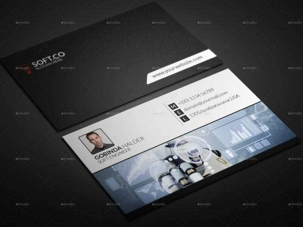 corporate engineer business card 1