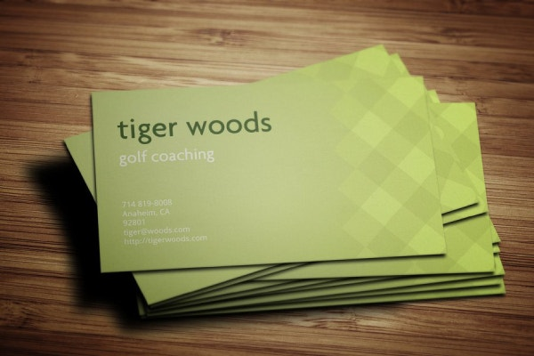 golf coaching pattern business card template 1