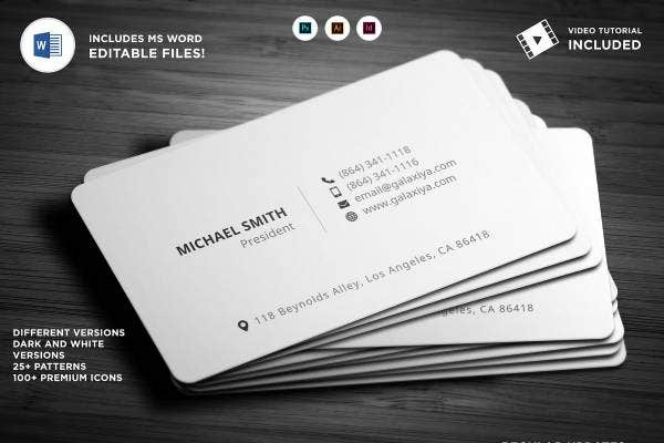 individual agency business card