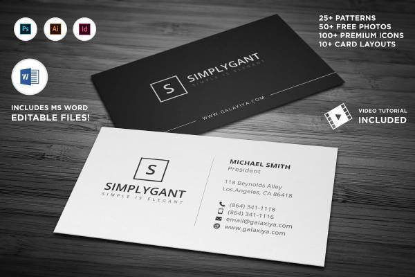 minimal agency business card