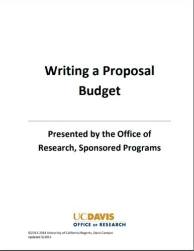 proposalbudget sample 1