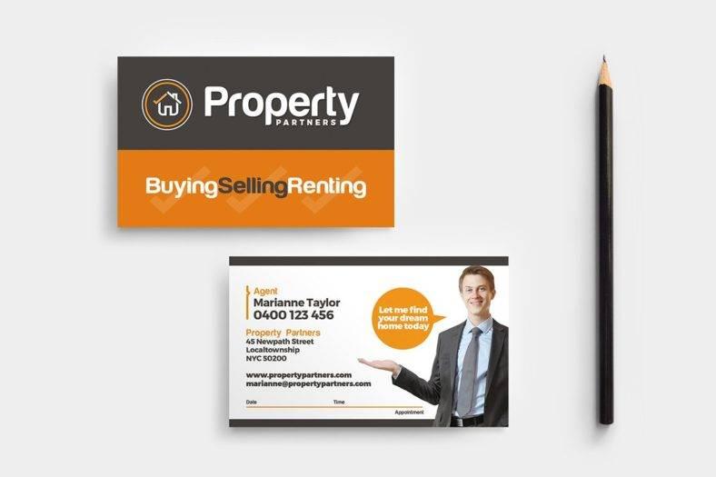 realtor business card template  788x525