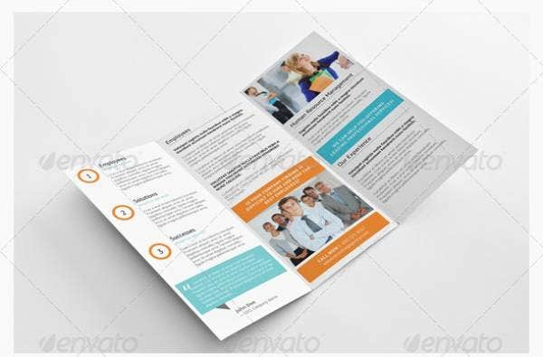 recruiting agency trifold brochure logo a4 letter preview