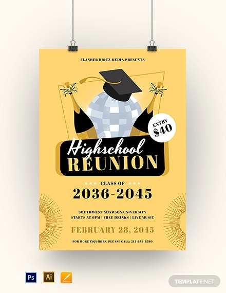 school reunion poster template