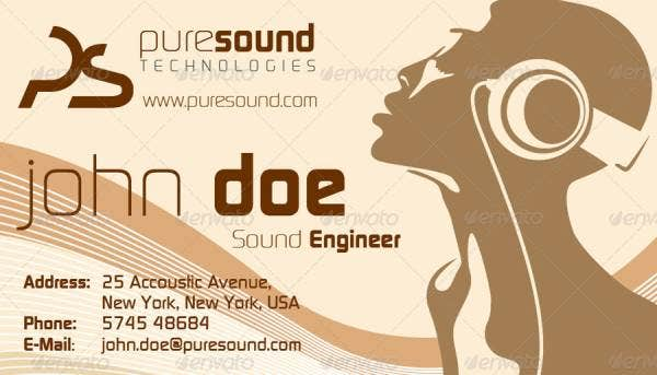 sound engineer business card 1