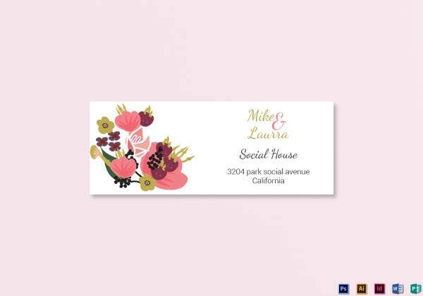 19 wedding address labels card