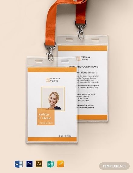 3office staff id card template