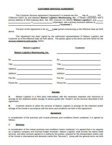 3pl logistic agreement template