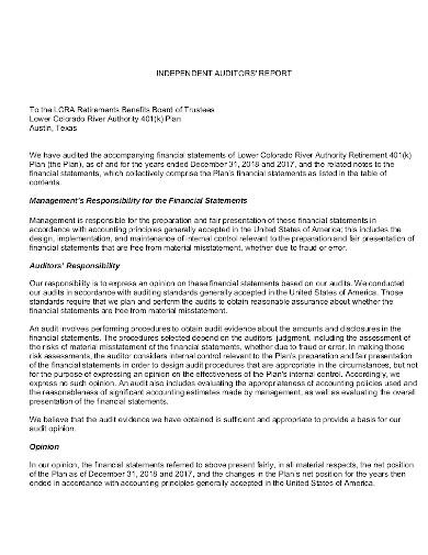 401 k audit in pdf