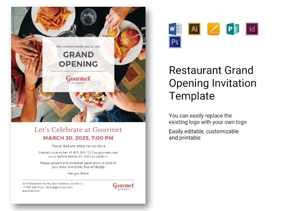 750 restaurant grand opening invitation template 281 29