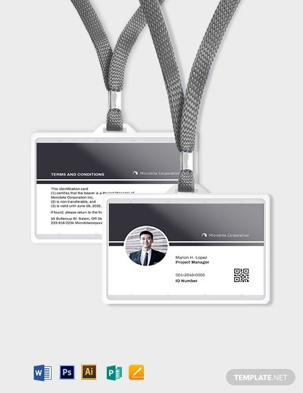 9professional employee id card