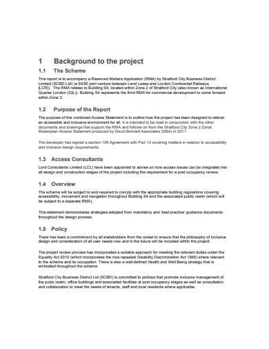access statement templates
