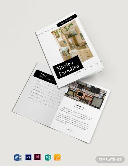 advertising catalog template
