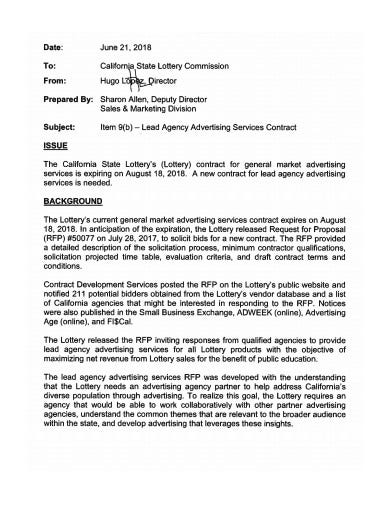 agency advertising service contract