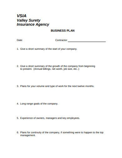 agency business plan simple
