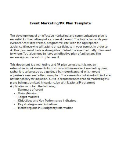 agency event marketing plan