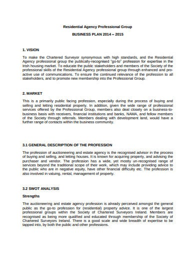 agency professional business plan template