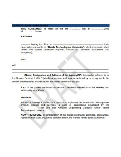 agency service level agreement template