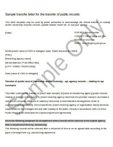 11 Agency Of Record Letter Templates In Doc Pdf Free