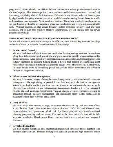 air force infrastructure investment strategy template
