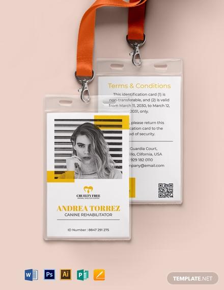 animal cruelty id card template