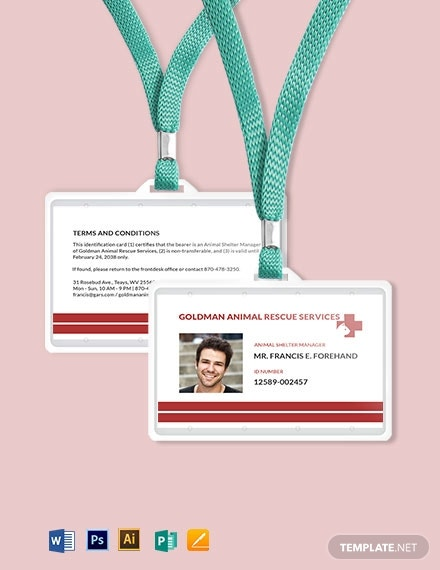 animal resue id card