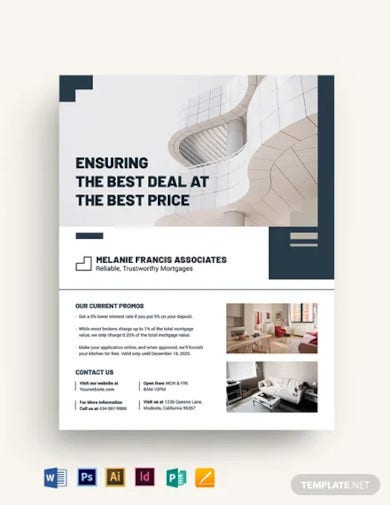 apartment condo mortgage broker flyer template
