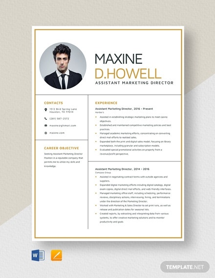 10  marketing resume in ms word
