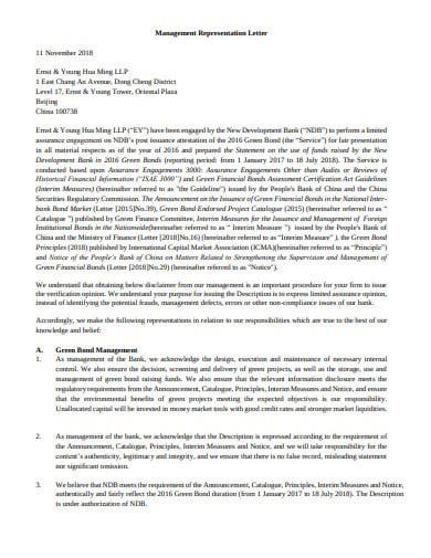 attestation management representation letter template