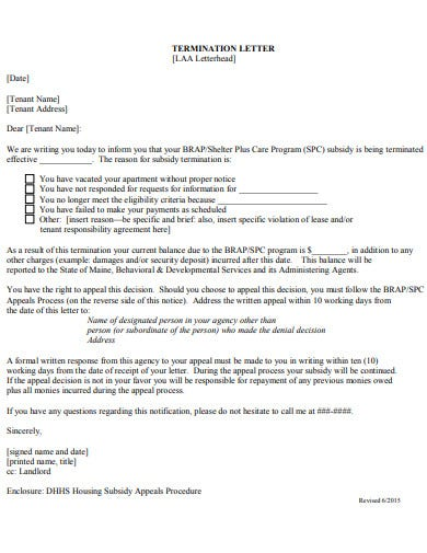5  agency termination letter templates in pdf
